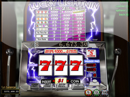 lucky lightning slots game